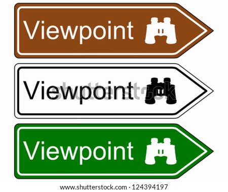 Direction sign viewpoint - stock vector