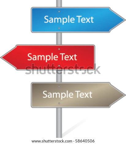 Direction Signs - stock vector
