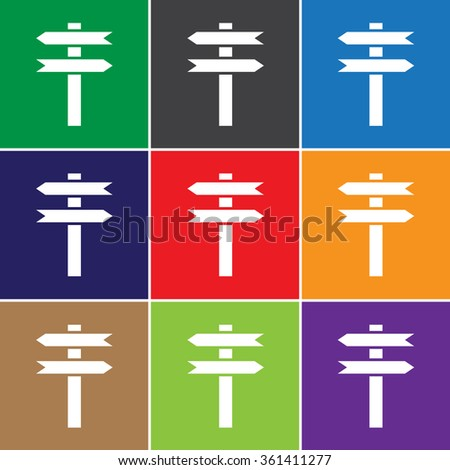 Directional sign icon for web and mobile - stock vector
