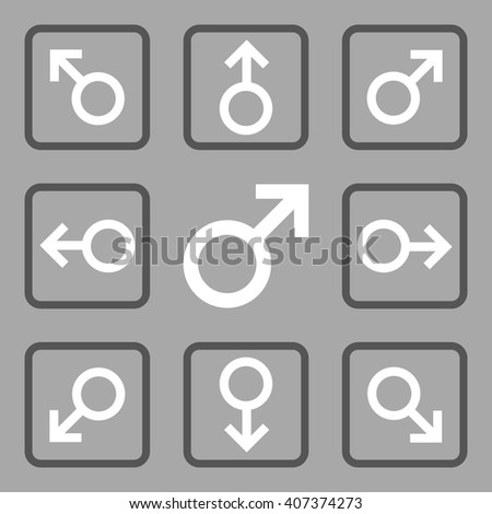 Directions vector bicolor icon. Image style is a flat icon symbol inside a square rounded frame, dark gray and white colors, silver background. - stock vector