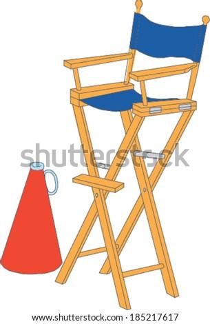 Director's Chair - stock vector