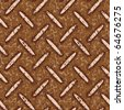 dirty rusty metal floor plate seamless background - stock vector