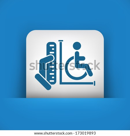 Disabled access area - stock vector