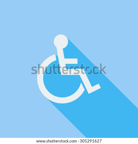 Disabled icon. Flat vector related icon with long shadow for web and mobile applications. It can be used as - logo, pictogram, icon, infographic element. Vector Illustration. - stock vector
