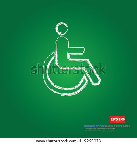 Disabled person sign,Vector - stock vector