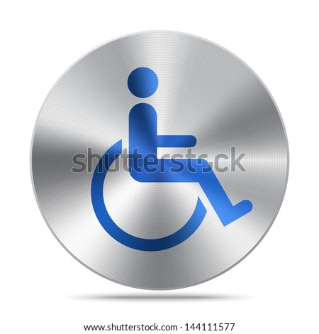 Disabled symbol - stock vector