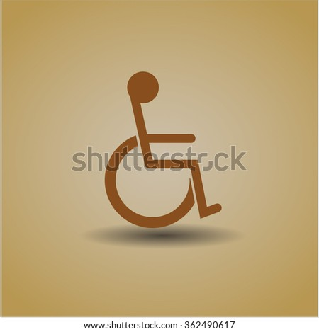 Disabled (Wheelchair) icon - stock vector