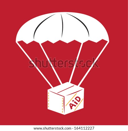 Disaster Aid Relief Goods vector concept - stock vector