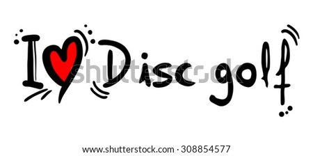 Disc golf love - stock vector