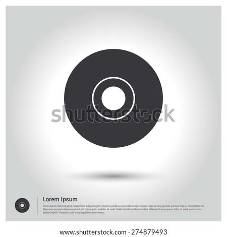 disc icon, CD Icon - stock vector