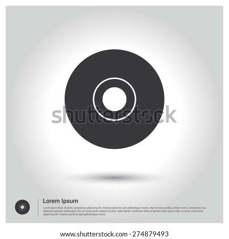 disc icon, CD Icon - stock vector