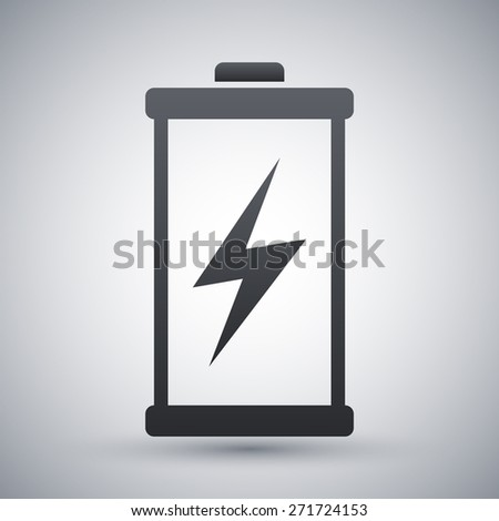 Discharged battery icon, vector - stock vector