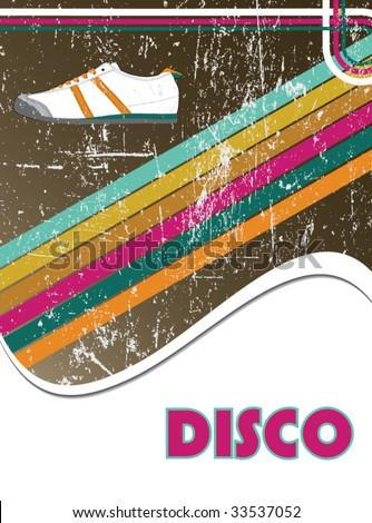 disco background - stock vector
