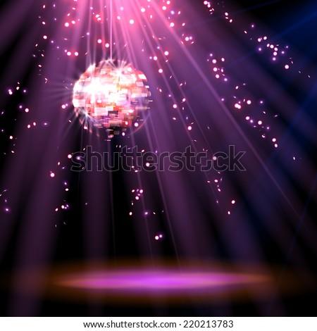 Disco ball. background. vector - stock vector