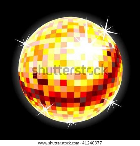 Disco Ball in vector Art - stock vector