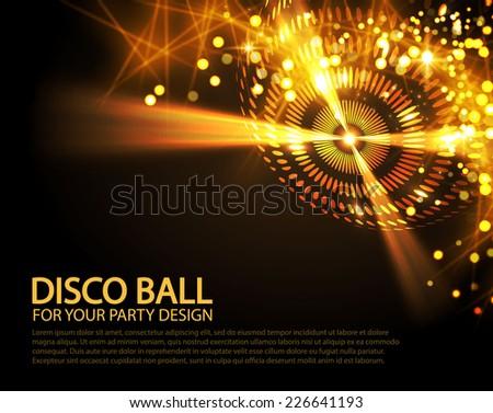 Disco ball. Vector illustration - stock vector