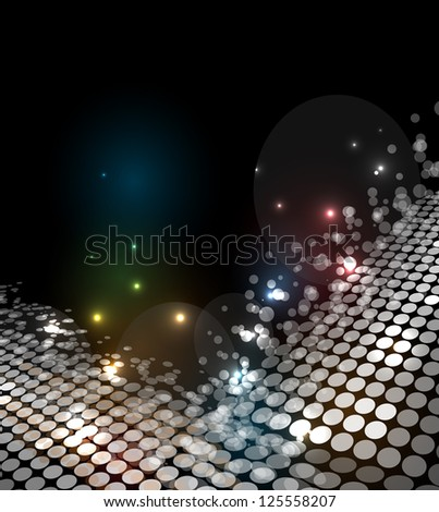 disco light stars abstract dance background - stock vector