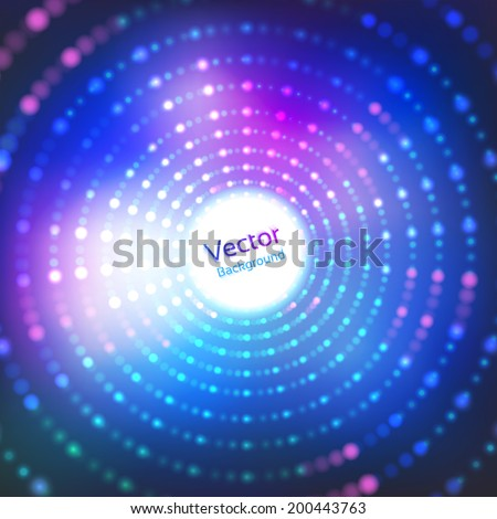 Disco lights. Vector background. - stock vector