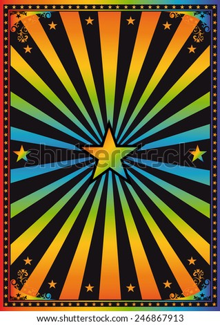 disco night background. A retro background - disco theme, yeah ! - stock vector