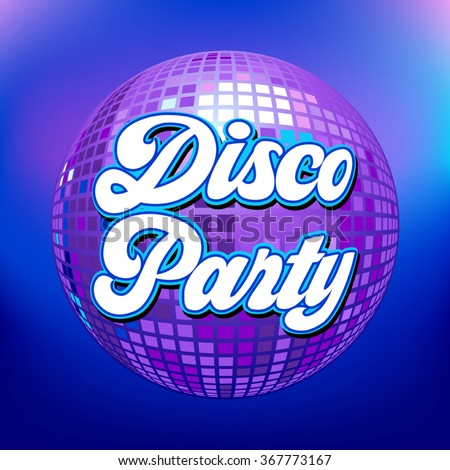Disco party background for poster or flyer - stock vector