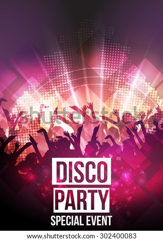 Disco Party Background - Vector Illustration - stock vector