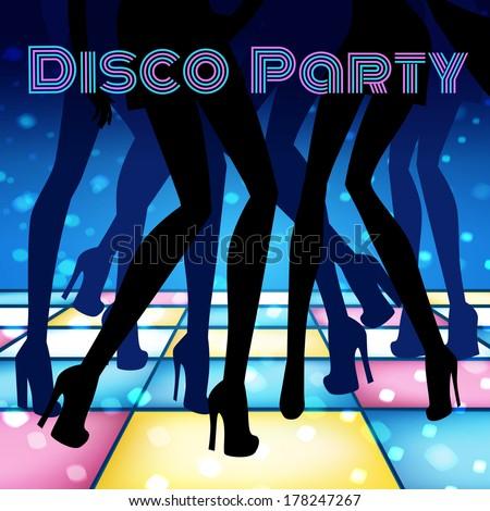 Disco party. Vector illustration. - stock vector