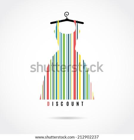 Discount. Fashion barcode vector image  - stock vector