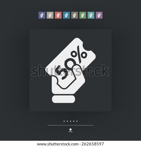 Discount label icon 50% - stock vector
