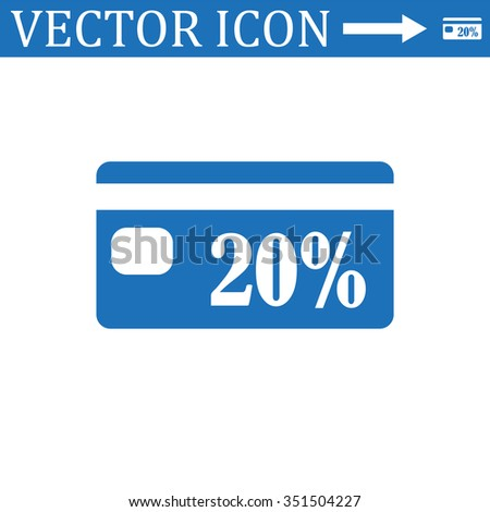 Discount label icon, vector illustration. Flat design style - stock vector