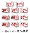 Discount label set vector for design - stock vector