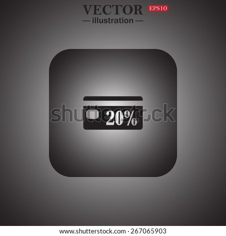 Discount label, web icon. vector design - stock vector