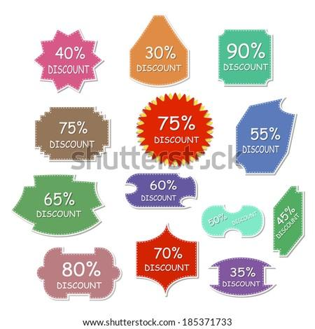 Discount labels - stock vector