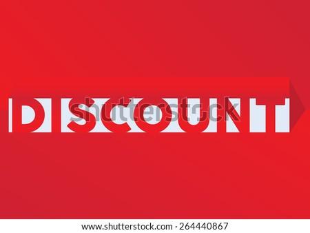 discount Paper pop up - stock vector