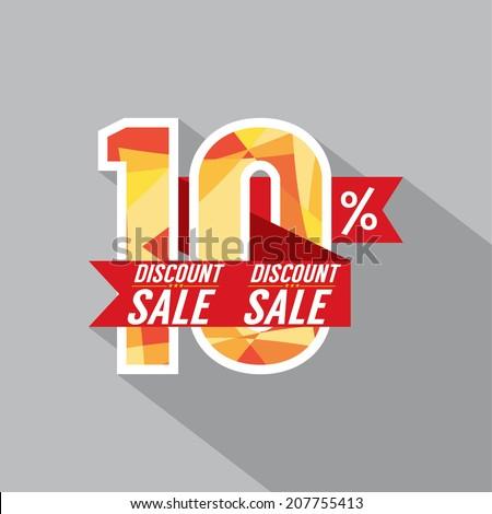 Discount 10 Percent Off Vector Illustration - stock vector