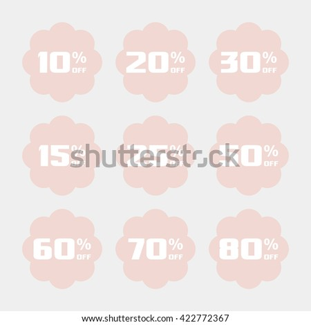 Discount price tags. - stock vector