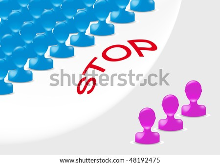 Discrimination - stock vector