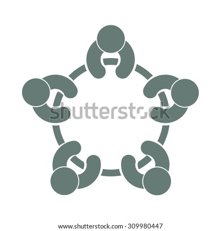 discussion group concept icon. Meeting concept icon.  - stock vector