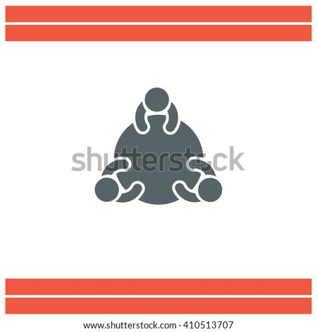 Discussion Group vector icon - stock vector