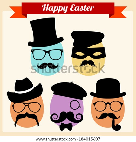 Disguised Eggs - stock vector