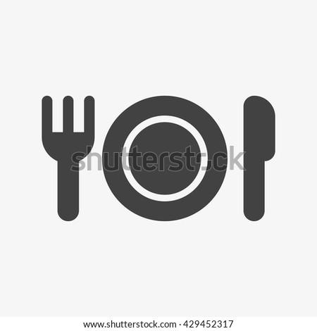 Dish, fork, knife Icon Vector, Dish, fork, knife Icon, Dish, fork, knife Icon App, Dish, fork, knife Icon Art, Dish, fork, knife Icon Web, Dish, fork, knife Icon JPG, Dish, fork, knife Icon EPS - stock vector