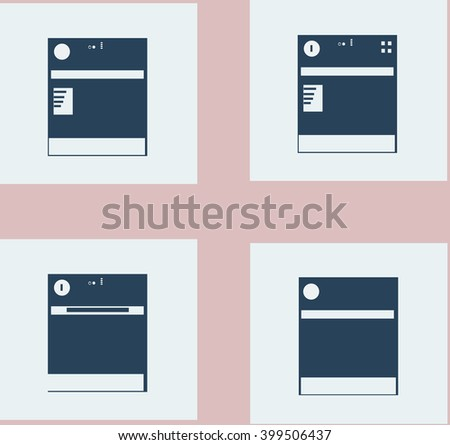 dishwasher - stock vector