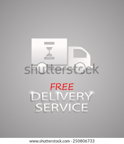 dispatch, shipment and free delivery logo sign vector illustration - stock vector