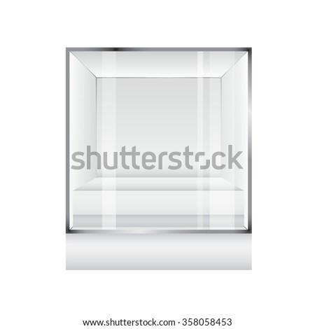 Display case. Vector illustration. - stock vector