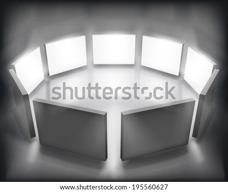 Display panels. Vector illustration. - stock vector