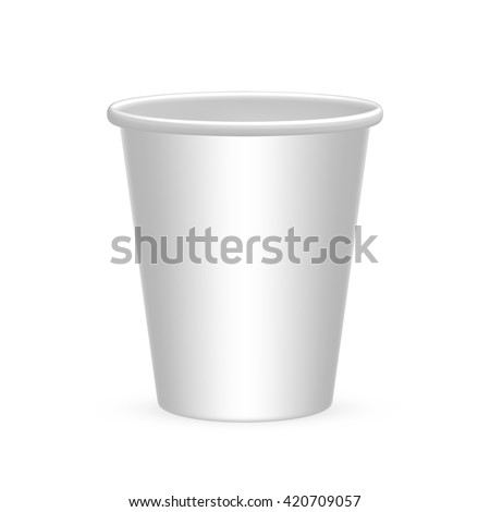 Disposable cups for water, coffee, tea, drink, soda. Isolated on white background. - stock vector