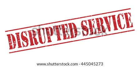 disrupted service vector stamp on white background - stock vector