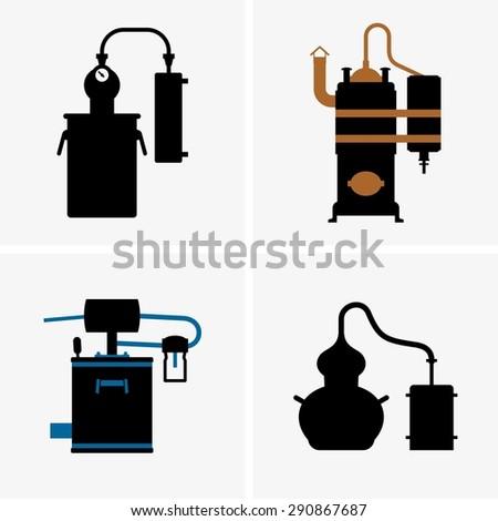 Distillation apparatus - stock vector