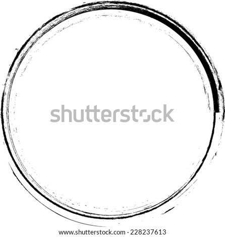 Distress Circle . Rubber Stamp . Grunge Black and White Frames . Distress Border Frame Collection . Vector Frames for your Design .   - stock vector