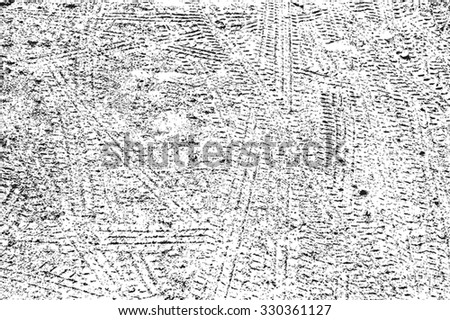 Distress Overlay Tyre Trace texture for your design. EPS10 vector. - stock vector