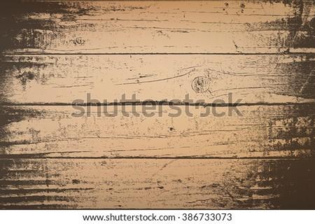 Distress Wooden Planks - stock vector